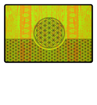 Flower Of Life black - Folklore green