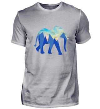 Elefant in verschiedenen Blautönen