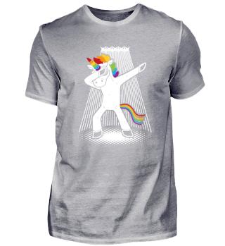 Dabbing Unicorn Dancing Rainbow Fantasy
