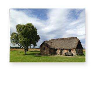 Schottisches Steinhaus in Culloden