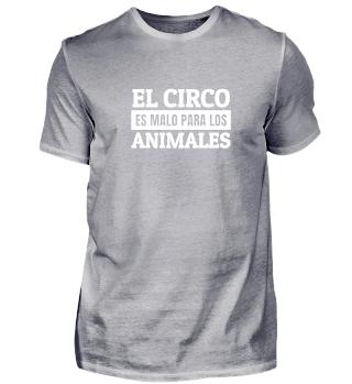 El circo es malo para los animales!