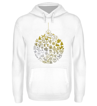 Icons Christmas Tree Ball - gold silver