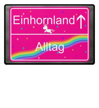 Einhorn Fussmatte Regenbogen Glitzer Mädchen Girl Geschenk Unicorn