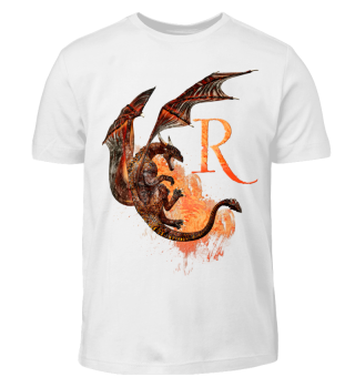 Drachen Buchstabe R (Kinder T-Shirt)