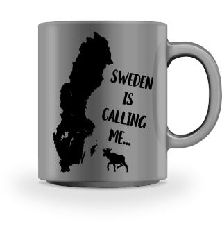 Schweden Fan Spruch Geschenk Tasse