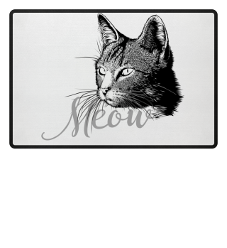 Beautiful CAT MEOW HEAD - black
