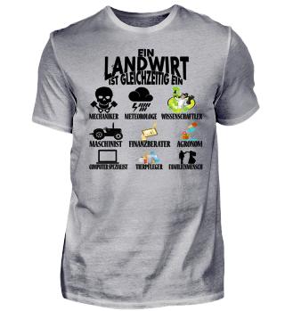 Landwirt - gleichzeitig - Tshirt weiß
