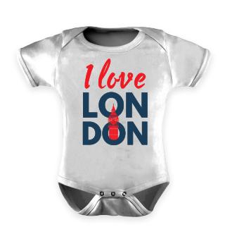 I Love London - Union Jack - Geschenkidee - Gift Idea - Great Britain - England - Sight Seeing City Trip - Städtereise - Auslandsjahr - Au Pair - Reiselust - Tourist - Tourismus - Skyline - Big Ben - Kensington Palace - Buckingham Palace, London Eye
