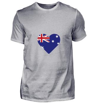Flag Heart gift for Australians