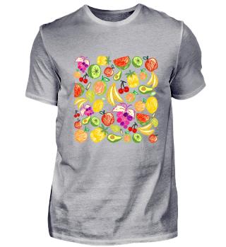 Buntes Früchtemotiv