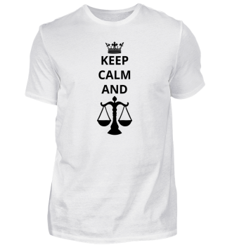 geschenk keep calm and anwalt justiz justice