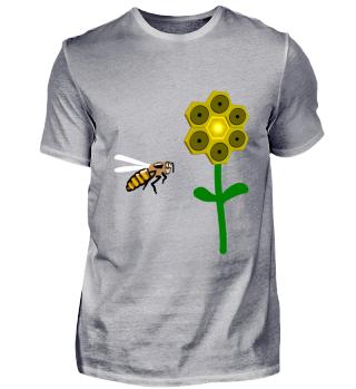 Biene und Musik Blume