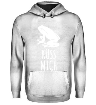 Frosch Küss Mich Hoodie Kaputzenpullover