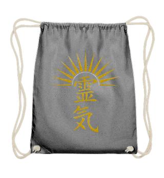 Reiki Calligraphy - Sunrise Gold Silver