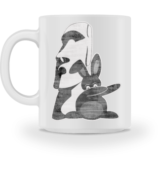 ★ Dabbing Bunny Easter Island Moai 4