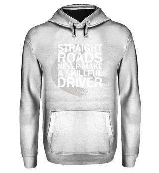 Straight Roads Hoodie white