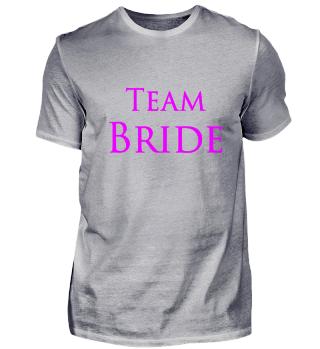 Team Bride Schrift JGA Party pink