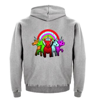 Unicorn Einhorn Böse Evil Devil Zombie