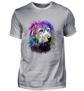bunter Irischer Wolfhund T-Shirt