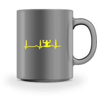 GIFT - ECG HEARTLINE MEDITATION YELLOW