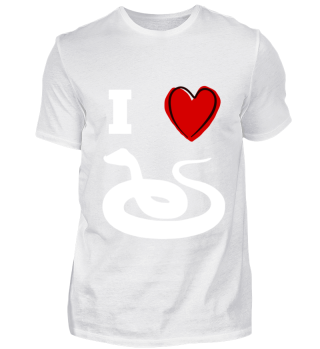 Ich liebe I love Schlange