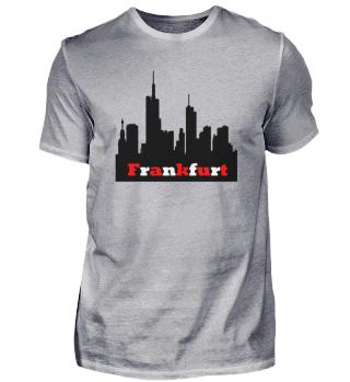 Frankfurt in Stadtfarben + Skyline