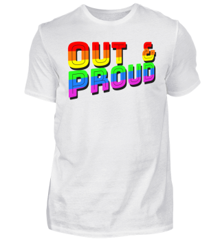 Out & Proud LGBT queer Pride
