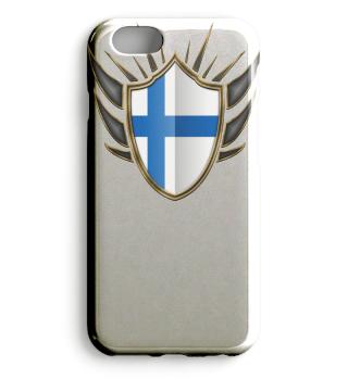 Finnland-Finland Wappen Flagge 014