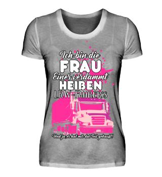 Frau von einem LKW Fahrer