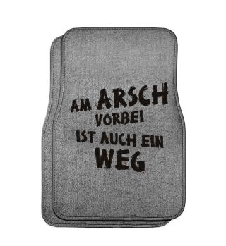 Am Arsch Vorbei Weg - schwarz auto 1