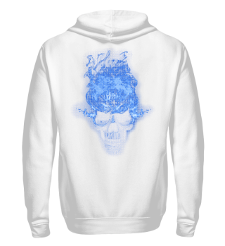 Skull Lover Shirt - Blue Flaming Skull