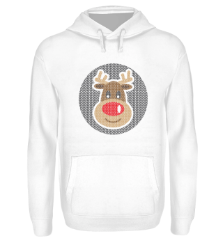 Ugly Christmas Reindeer Antler Red Nose