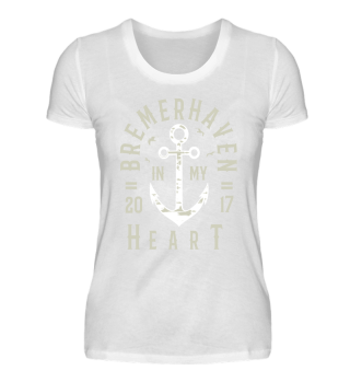 BREMERHAVEN IN MY HEART DAMENSHIRT