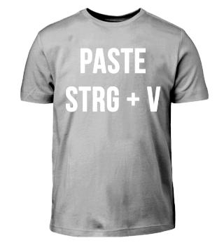 Paste Strg V Vater Sohn Shirt Geschenk