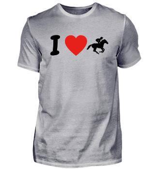 Ich liebe REITER HORSEWOMAN geschenk geburtstag liebe