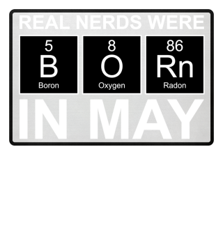 Periodic Elements - BORN may white