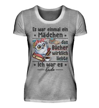 Mädchen Bücher T-shirt
