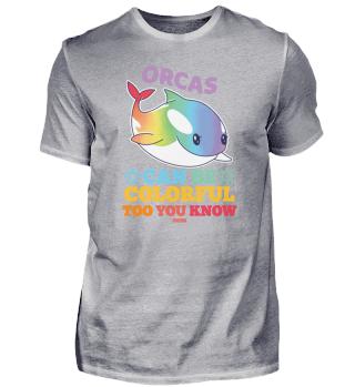 Orca rainbow marine life