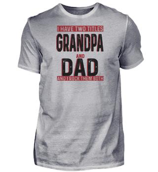 Großvater und Vater - Großvater Vatertag