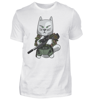 Tactical Veteran Military Sniper Cat