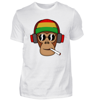 Smoking reggae monkey