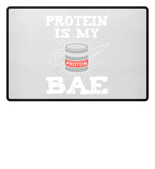 Bodybuilding Protein Spruch Fußmatte