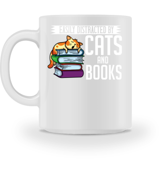Cats And Books Reading Gift For Reader
