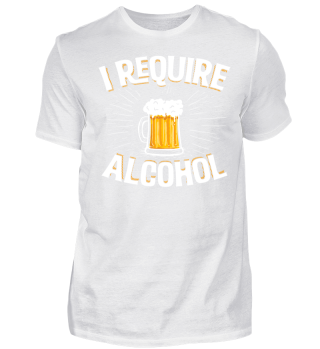Ich benötige ein Alkohol-T-Shirt