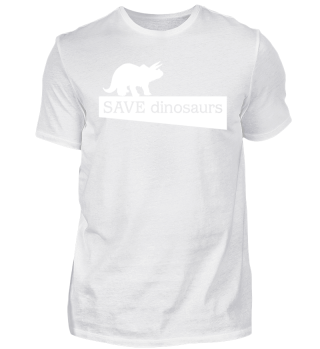 SAVE dinosaurs - white