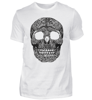 Celtic skull blackwhite