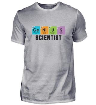 Genius Scientist Periodic Table Geek Sci