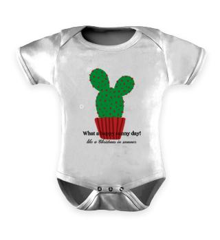 Baby Romper Happy Sunny Day Cactus
