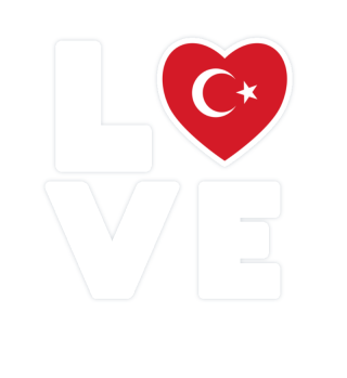 I love LOVE Turkey Flag Flag Heart