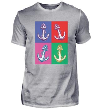 Anker Norddeutsch Platt Spruch · T-Shirt